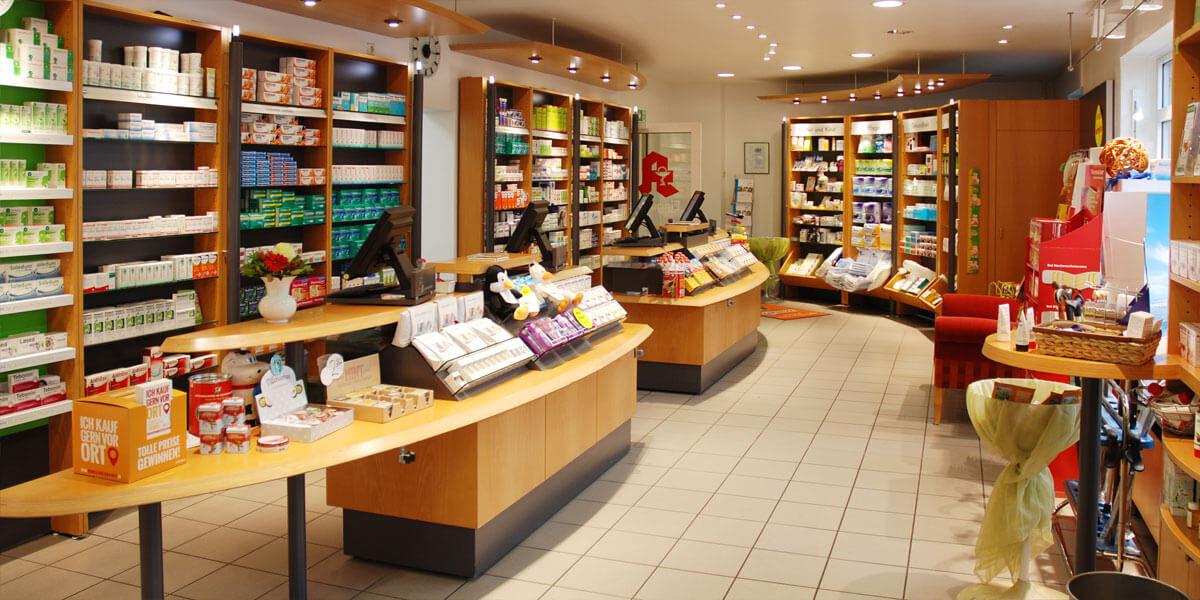 Senne-Apotheke Verkaufsraum