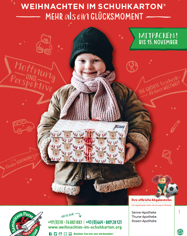 Weihnachten Im Schuhkarton Org.Weihnachten Im Schuhkarton Senne Apotheke Hövelhof